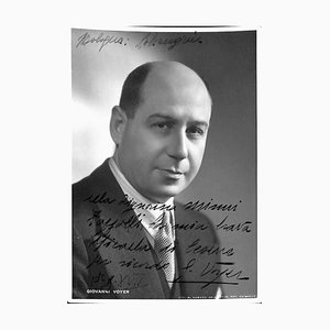 Unknown, Giovanni Voyer Autographed Photograph, 1939