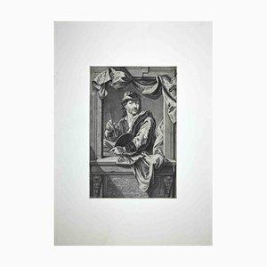 John Faber II, Porträt des Bildhauers John Michael Rysbrack, Mezzotint, 1734
