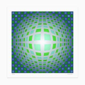 Dadodu, Green Composition, Giclée, 2010