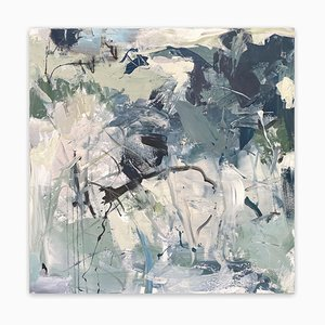 Iced Over, Abstract Painting, 2019