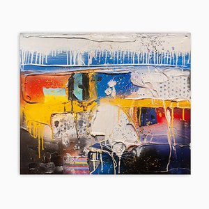 Untitled Blue, Abstract Painting, 2007