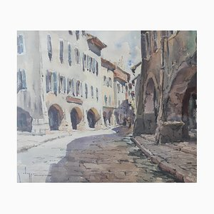 Georges Chappuis Walks in Old Annecy, 1962