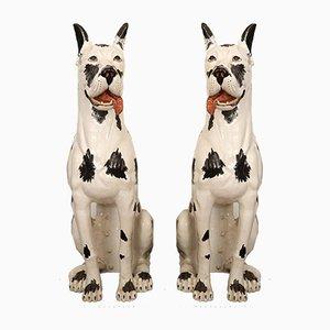 Große Hunde aus Keramik, 2er Set
