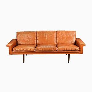 Vintage Danish 3 Person Leather Sofa by Morgans Hansen