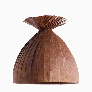 Lámpara colgante Mid-Century de teca laminada de Hans-Agne Jakobsson para Ellysett Markaryd, años 60
