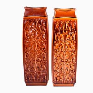 Tschechische Mid-Century Keramikvasen von Ditmar Urbach, 2er Set