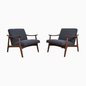 Mid-Century German Armchairs, 1960s, Set of 2