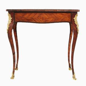 Französischer Schreibtisch aus Holz mit Intarsien