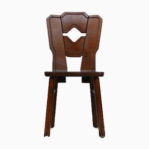 Niederländische Mid-Century Esszimmerstühle aus Holz, 8er Set