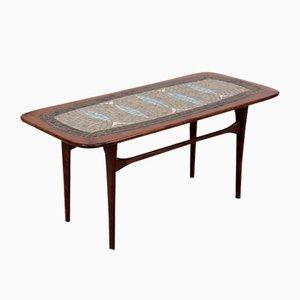 Table Basse Vintage avec Mosaïque Colorée par Edvard Johansson pour Ejm, 1960s