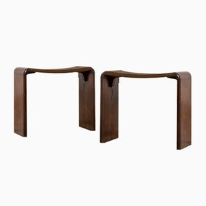 Wooden Side Chairs in the Style of Guglielmo Ulrich, 1950s, Set of 2
