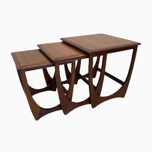 Tavolini a incastro di V. Wilkins per G-Plan, set di 3