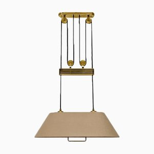 Adjustable Brass Ceiling Lamp by Florian Schulz, 1970s