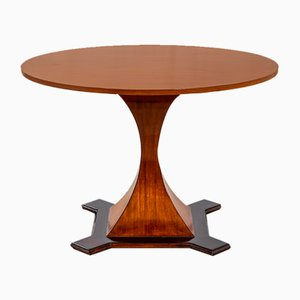 Dining Table with Circular Top in the Style of Carlo De Carli, 1950s