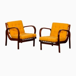 Vintage Armchairs by Antonin Kropacek & Karel Kozelka for Interier Praha, 1944, Set of 2