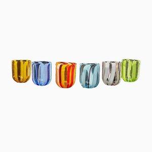 Italian Scaramacai Murano Glass Drinking Glasses, 1998, Set of 6