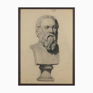 Maquetas de yeso, siglo XIX, lápiz sobre papel. Juego de 3