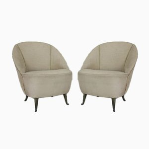 Armchairs by Gio Ponti for Isa, 1950s, Set of 2
