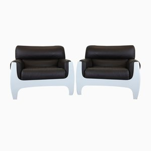 Model Mirage Chairs by Henning Korch for Swan, 1970s, Set of 2