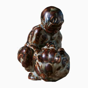 Boy with Bear by Knud Kyhn for Royal Copenhagen