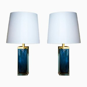 Murano Glass Lamps, Set of 2