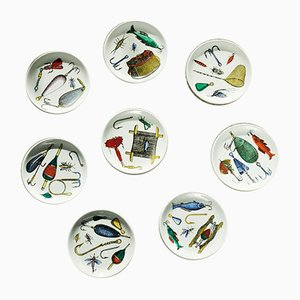 La Pesca Coasters by Piero Fornasetti, Set of 8