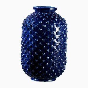 Blaue Vase mit Stacheliger Oberfläche von Gunnar Nylund für Rörstrand