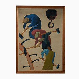 Mikael Pasternak, Komposition, Gouache