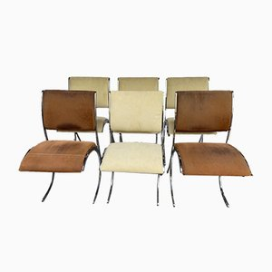 Chairs by Boris Tabacoff for Christofle, 1970s, Set of 6