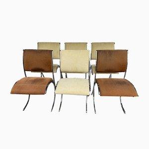 Chaises par Boris Tabacoff pour Christofle, 1970s, Set de 6