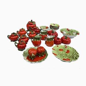 Tomato-Shaped Royal Bayreuth Tableware, Set of 25
