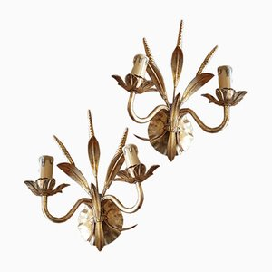 Goldene Wandlampen, 2er Set