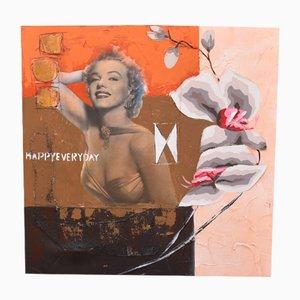 Marilyn Monroe Mixed Media Painting