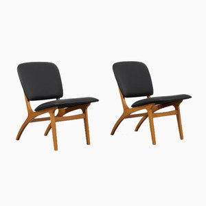 Mid-Century Modern Vintage Swedish Jylland Chairs from Jio Möbler, 1953, Set of 2