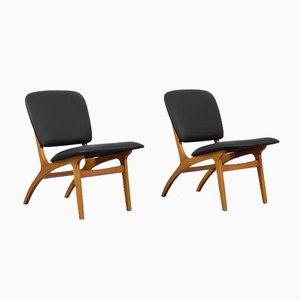 Schwedische Mid-Century Modern Vintage Jylland Stühle von Jio Möbler, 1953, 2er Set