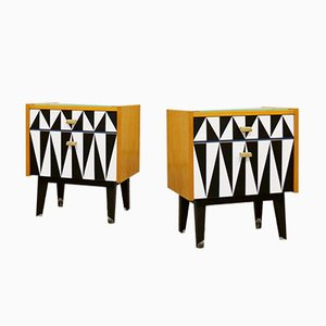 Berlin Bedside Cabinets from Chr. Lonhardt, Germany, 1960s, Set of 2