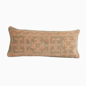Vintage Turkish Ethnic Rectangular Decorative Wool Carpet Pillow Cover with Boho Decor from Vintage Pillow Store Contemporary