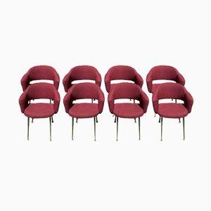 Chaises de Conférence par Eero Saarinen pour Knoll Inc. ou Knoll International, 1957, Set de 8