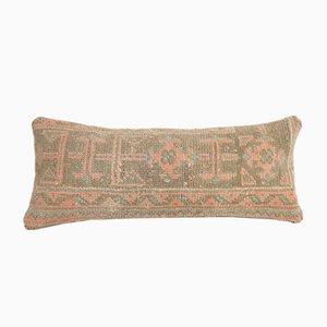 Housse de Coussin Lombaire Oushak Artisanale Ethnique avec Décor Délavé de Vintage Pillow Store Contemporary