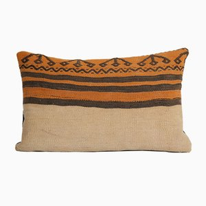 Turkish Natural Dyes Wool Kilim Pillow from Vintage Pillow Store Contemporary
