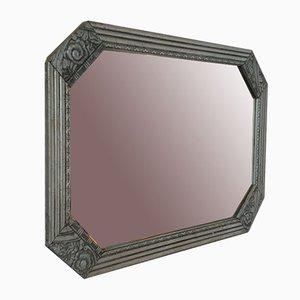 Art Deco Spiegel in Silber