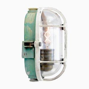 Industrielle Vintage Vintage Wandlampe aus Klarglas & Metall