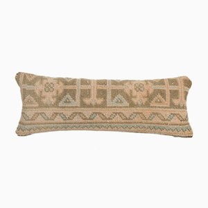 Vintage Anatolian Ethnic Handmade Soft Wool Faded Lumbar Bedding Rug Pillow Cover from Vintage Pillow Store Contemporary