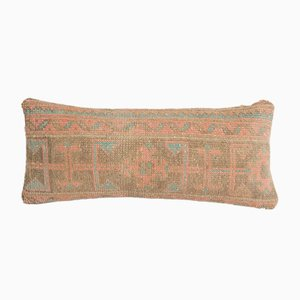Vintage Turkish Traditional Ethnic Soft Wool Lumbar Rug Pillow Cover from Vintage Pillow Store Contemporary