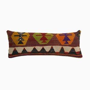 Federa Kilim vintage in lana colorata di Vintage Pillow Store Contemporary, Turchia