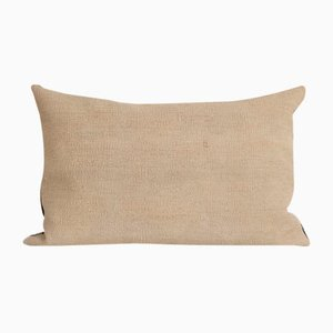 Turkish Traditional Decorative Hemp Lumbar Kilim Pillow Cover from Vintage Pillow Store Contemporary