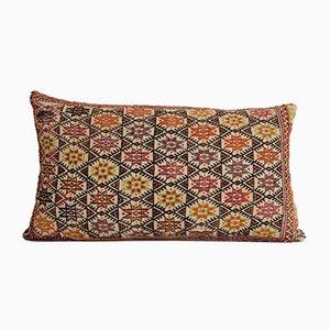Vintage Turkish Retro Pastel Jajim Kilim Sofa Cushion Cover