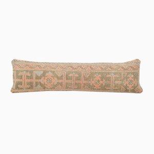 Turkish Bohemian Woven Wool Lumbar Bedding Rug Cushion Cover with Mid-Century Design