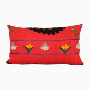 Uzbek Ethnic Embroidered Tribal Suzani Lumbar Cushion Cover