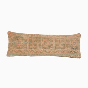 Turkish Oblong Faded Copper Oushak Rug Cushion Cover